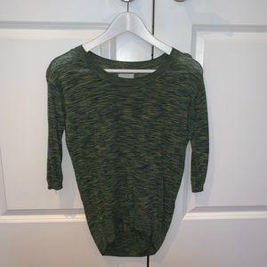 Green Long Sleeve Shirt, Aritzia, XXS